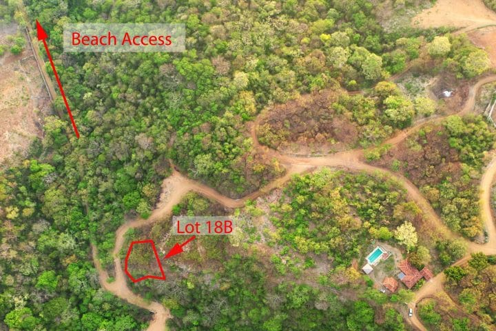 Lot 18B w property corners and beach access V2 low res scaled