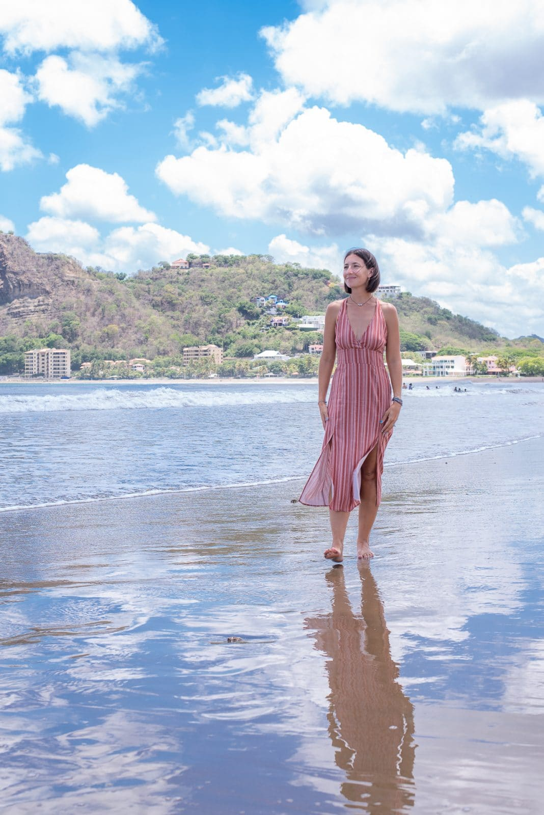 New agent Christina on the beach in San Juan Del Sur.