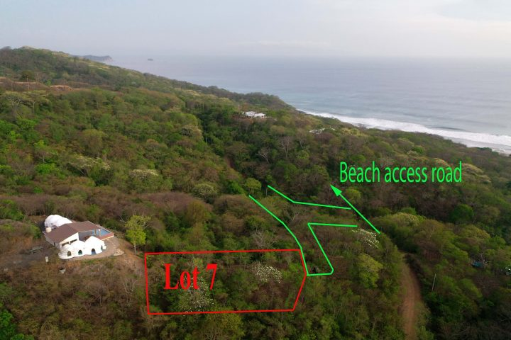 Vista del Mar Lot 7 Drone From North w Anotations scaled